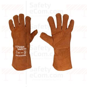 14 Brown Welding Gloves