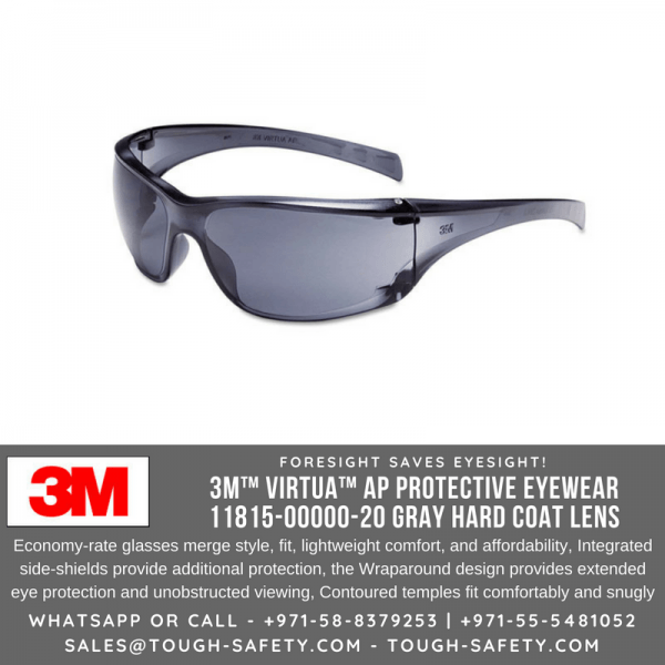 3M 11815 Grey Safety Goggles