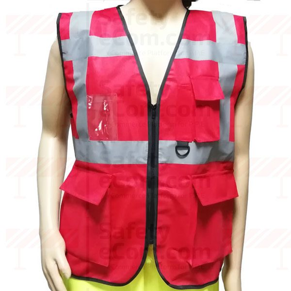 4 Pockets Executive Fabric Type Safety Vest