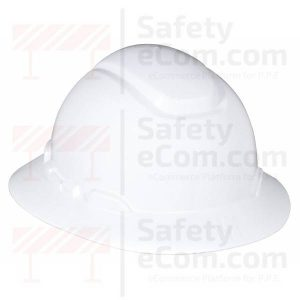 3M 801R - Full Brim White Safety Helmet