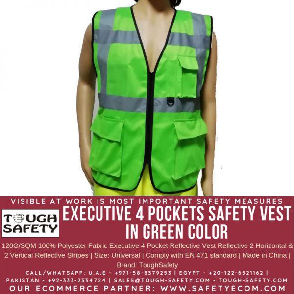 Hi Viz Executive Safety Vest - Green Color