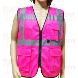 Hi Viz Executive Safety Vest - Pink Color