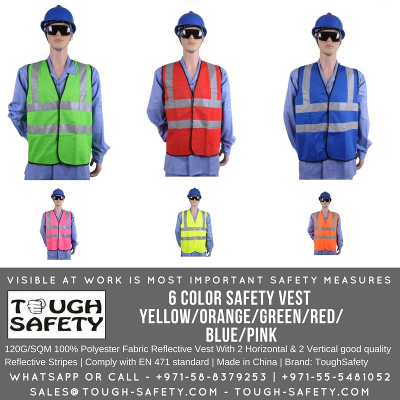 6 Color Safety Vest/Jacket Red/Green/Yellow/Blue/Pink/Orange