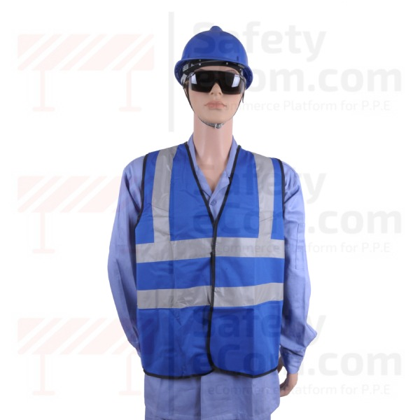 Hi Viz Safety Vest/Jacket - Blue Color