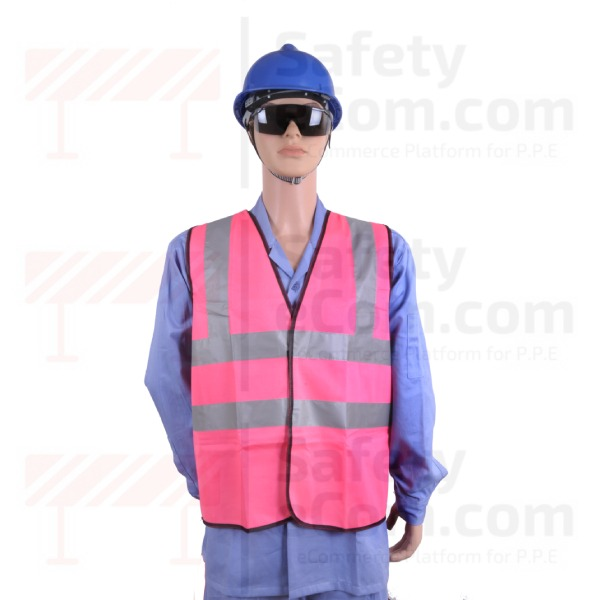 Hi Viz Safety Vest/Jacket - Pink Color
