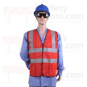 Hi Viz Safety Vest/Jacket - Red Color