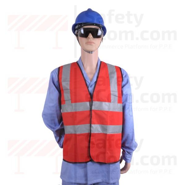 Hi Viz Safety Vest/Jacket - Red Color