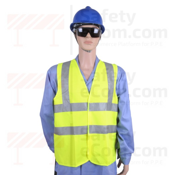 Hi Viz Safety Vest/Jacket - Yellow Color