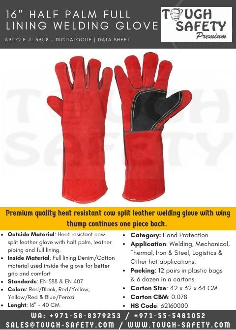 Half Patch/Hokey Palm Welding Glove