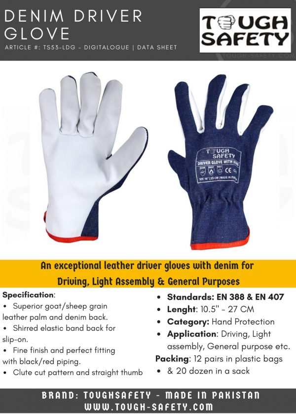 DRIVER GLOVE DENIM