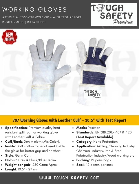 Leather Working Glove - Single Palm