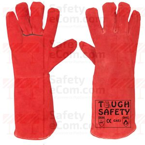 "16"" Red Leather Welding Glove"