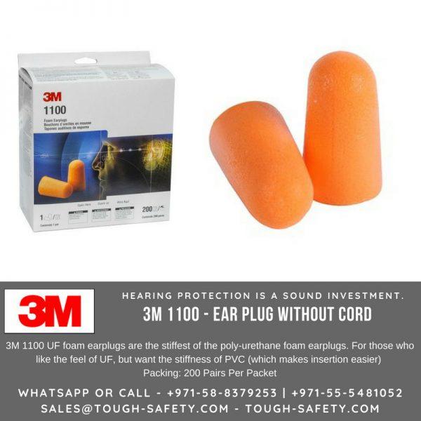 3M Foam Earplugs 1100 Uncorded