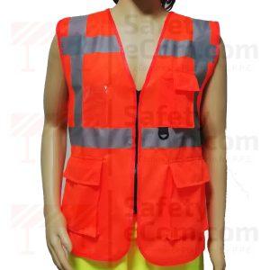 Hi Viz Executive Safety Vest - Orange Color